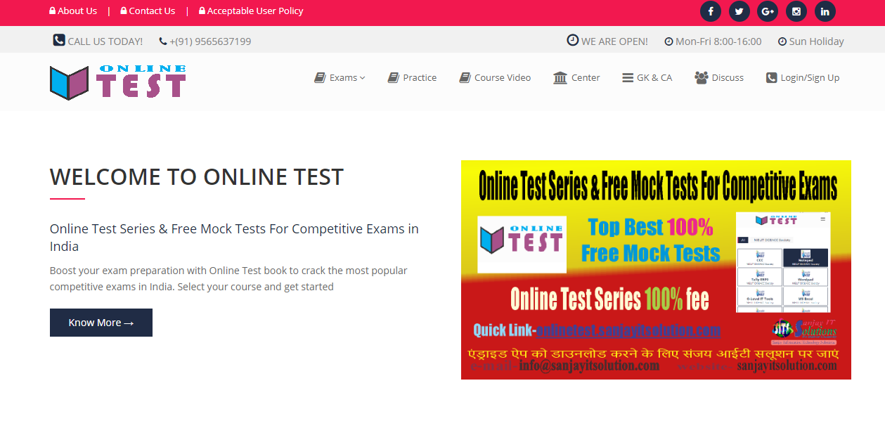 Online Test Series & Free Mock Tests For Competitive Exams in India